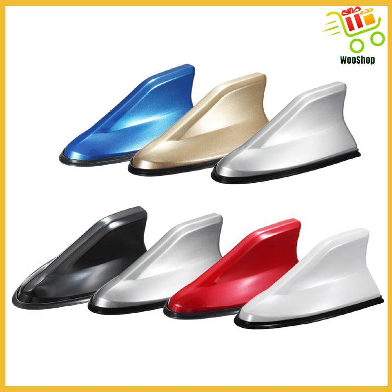 Universal Car Auto SUV Shark Fin Roof Antenna Aerial AM/FM Radio Decorate - WHITE / YELLOW / BLACK / RED / BLUE / GREY / SILVER