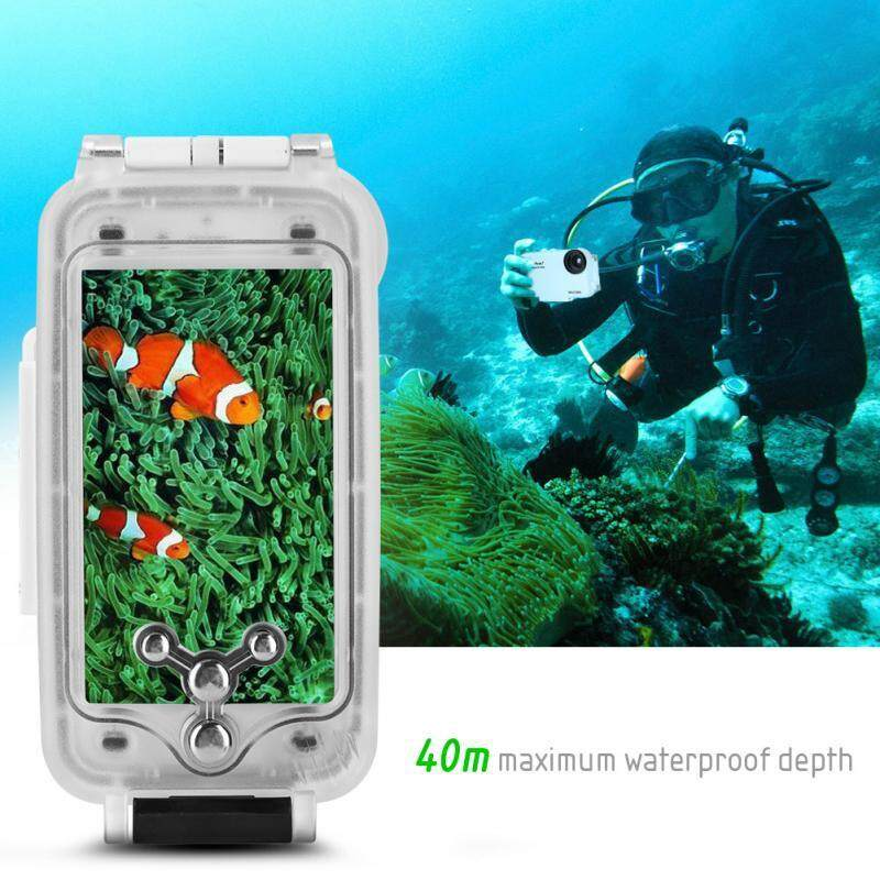 Diving - Waterproof Underwater Diving Housing Photo Case Cover for iPhone7 - [(WHITE)]