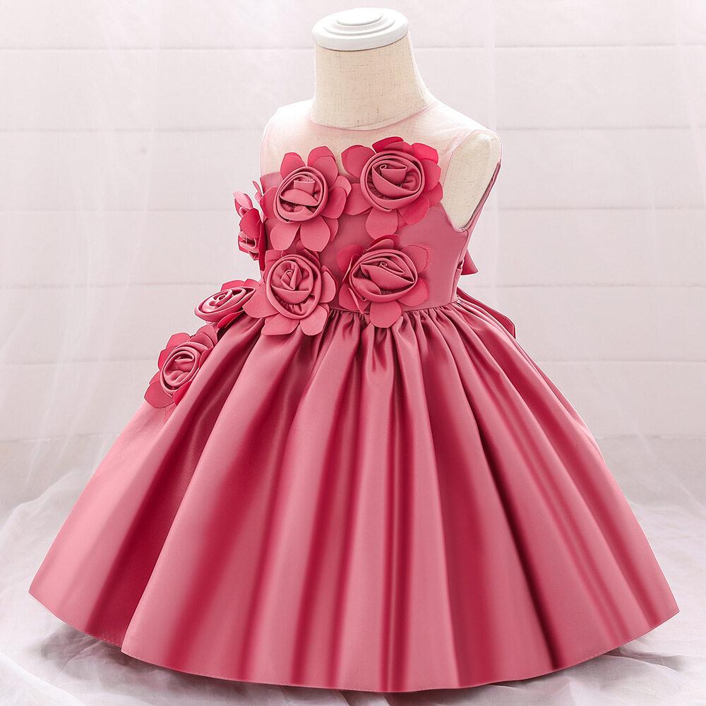 Flower Birthday Dress for Baby Girl 7 Year Old Kids Party Dress 7st  Birthday Dress Baby Gown Princess Dress Wedding Dress 7 Yrs Old Newborn