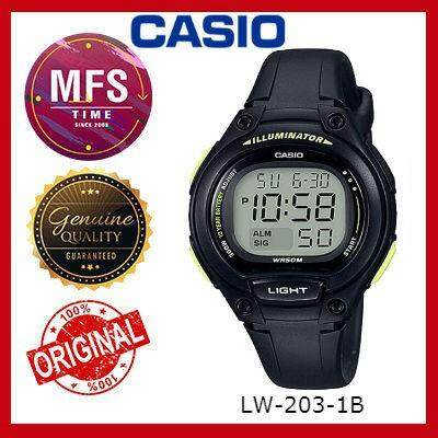(2 YEARS WARRANTY) CASIO ORIGINAL LW-203 SERIES DIGITAL STUDENT & KID'S WATCH