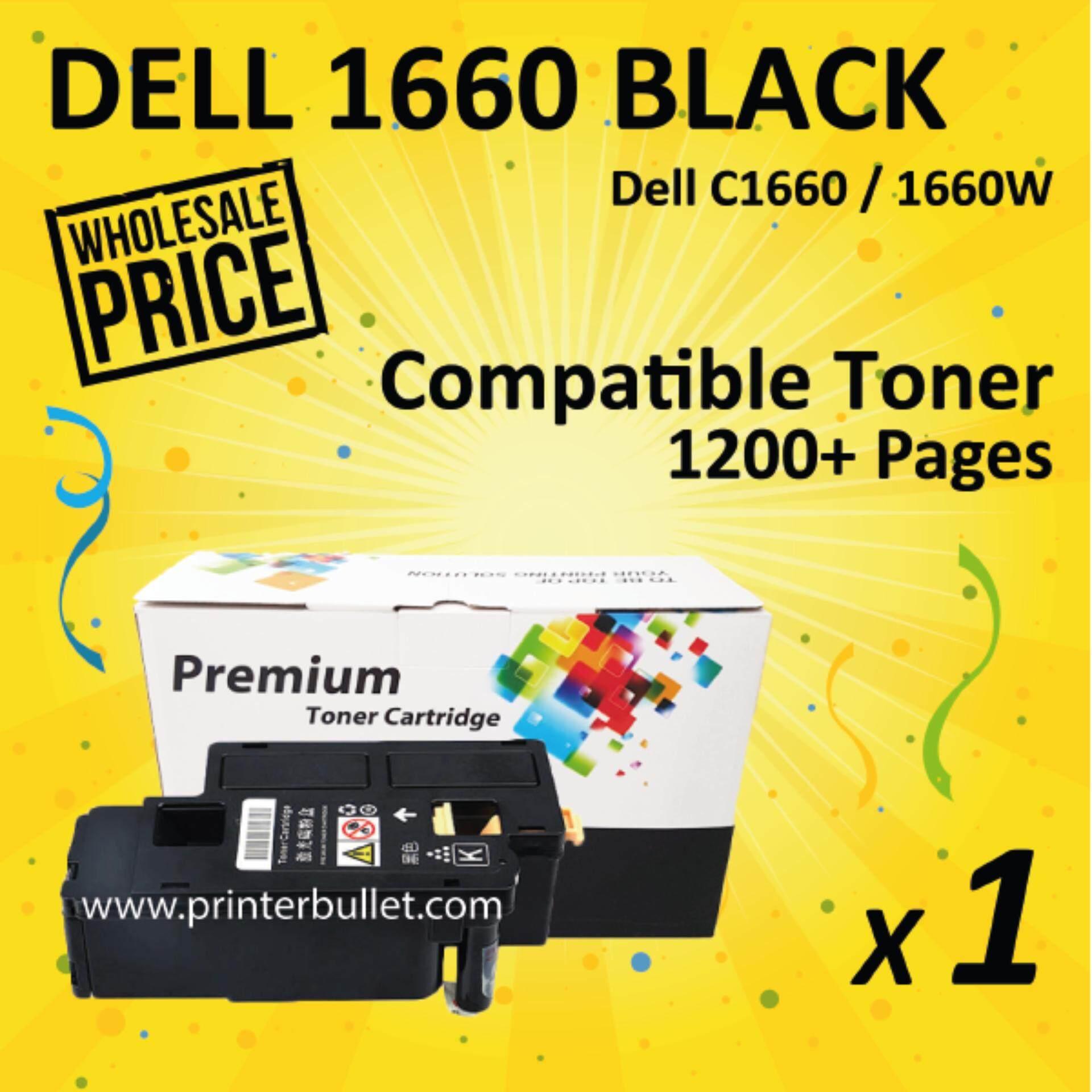 DELL C1660w / C1660 Black Compatible Toner Colour Cartridge