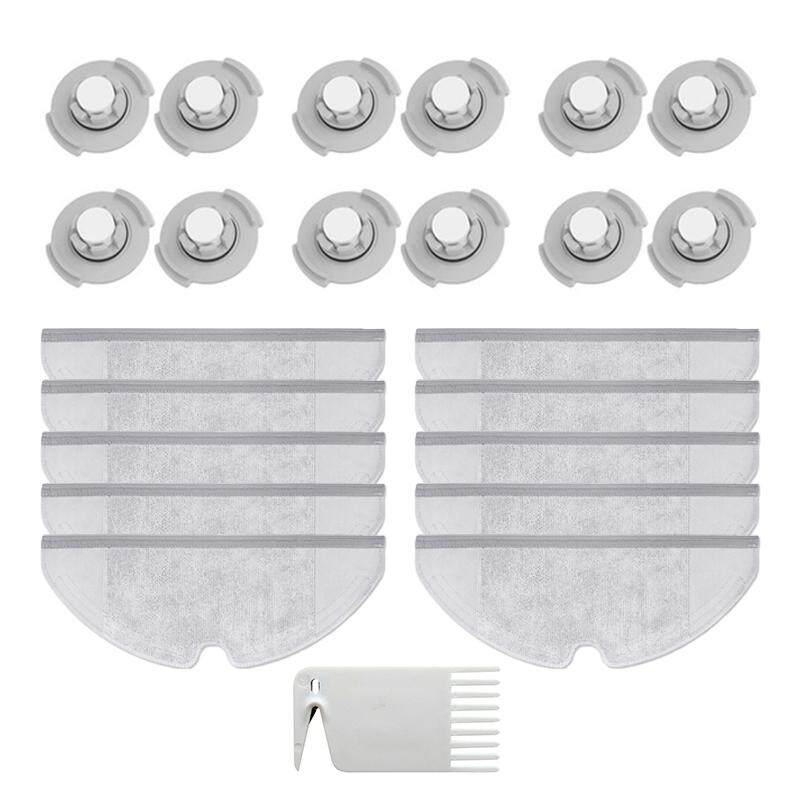 12X Filter + 10X Mop Cloths+ Cleaning Brush For Xiaomi Roborock S50 S51 S55  Lot