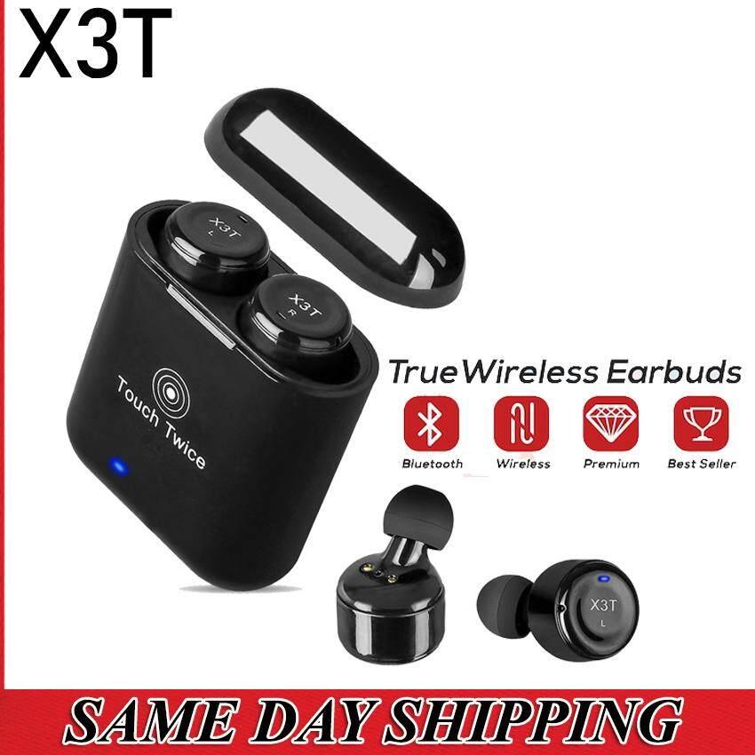 X3T True Wireless Bluetooth Stereo Mini Wireless Earbuds with Charger Box [READY STOCK - LOCAL SELLER)