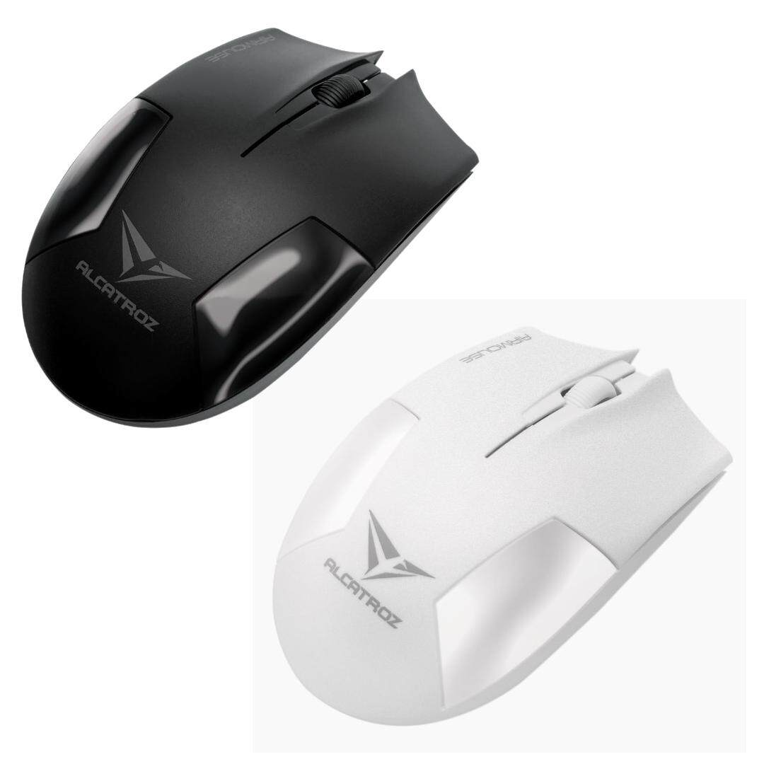 Alcatroz Airmouse USB Wireless Optical Mouse 1200CPI for Home and Office (Size: 104 x 59 x 38mm, 2 Years Warranty)