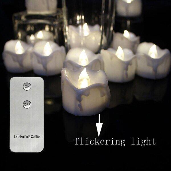 Gói Của 12 Điều Khiển Từ Xa Hoặc Không Từ Xa Năm Mới Nến, Chạy Bằng Pin LED Ánh Sáng Trà, Tealights Giả LED Đèn Nến Phục Sinh Nến