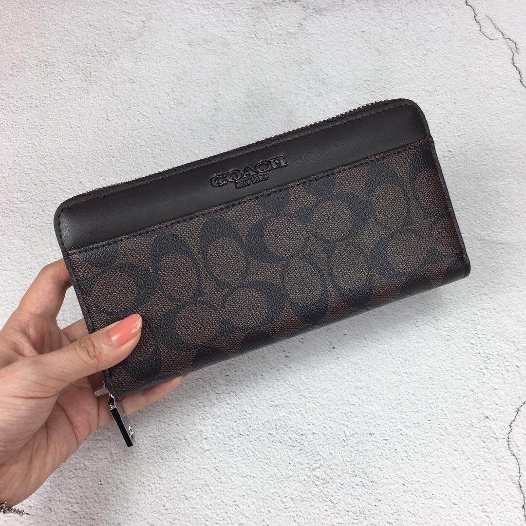 Coach Accrdion Unisex Wallet IN Signature F58112