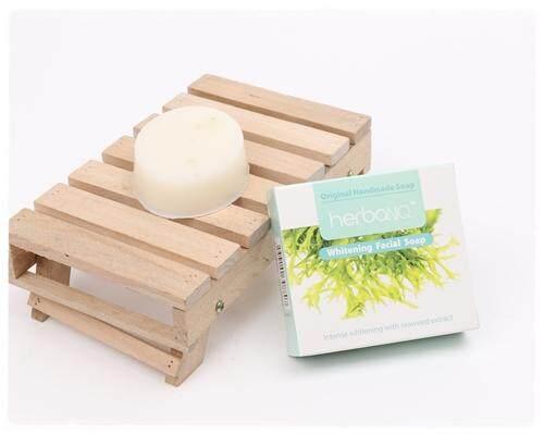 Choose 1pc, 2pcs or 10pcs of Seaweed Facial Whitening Handmade Soap 55g each - 1 pc