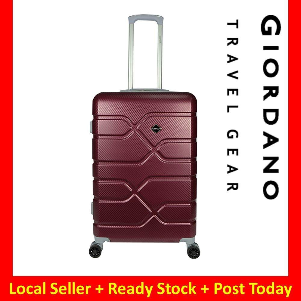 Giordano GA1905 20inch 4W ABS ULTRA Strong Hard Case Luggage with Anti-Theft Zipper  Maroon
