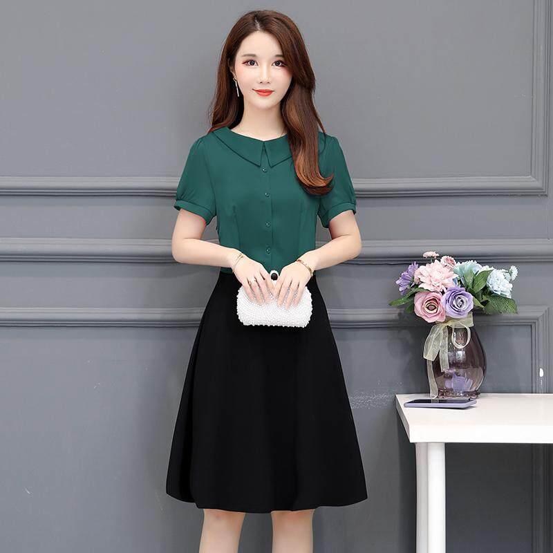 mm baju ketat wanita Awet muda gaun Terlihat Langsing Gaya Barat wanita 2019 pakaian musim panas