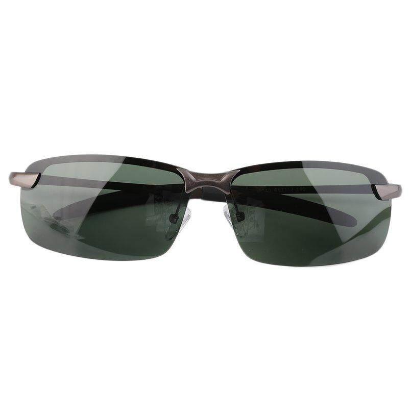 ... Oh Pria HD Kacamata Hitam Terpolarisasi Pakaian Olahraga Luar Ruangan Mengemudi Anti-Glare Grey ...