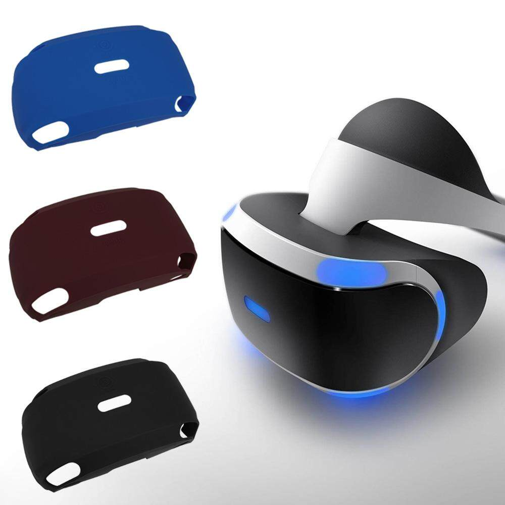 1 Pcs Soft-touch Silicone Rubber Case for PlayStation VR (PSVR) Virtual Reality Headset Red - intl