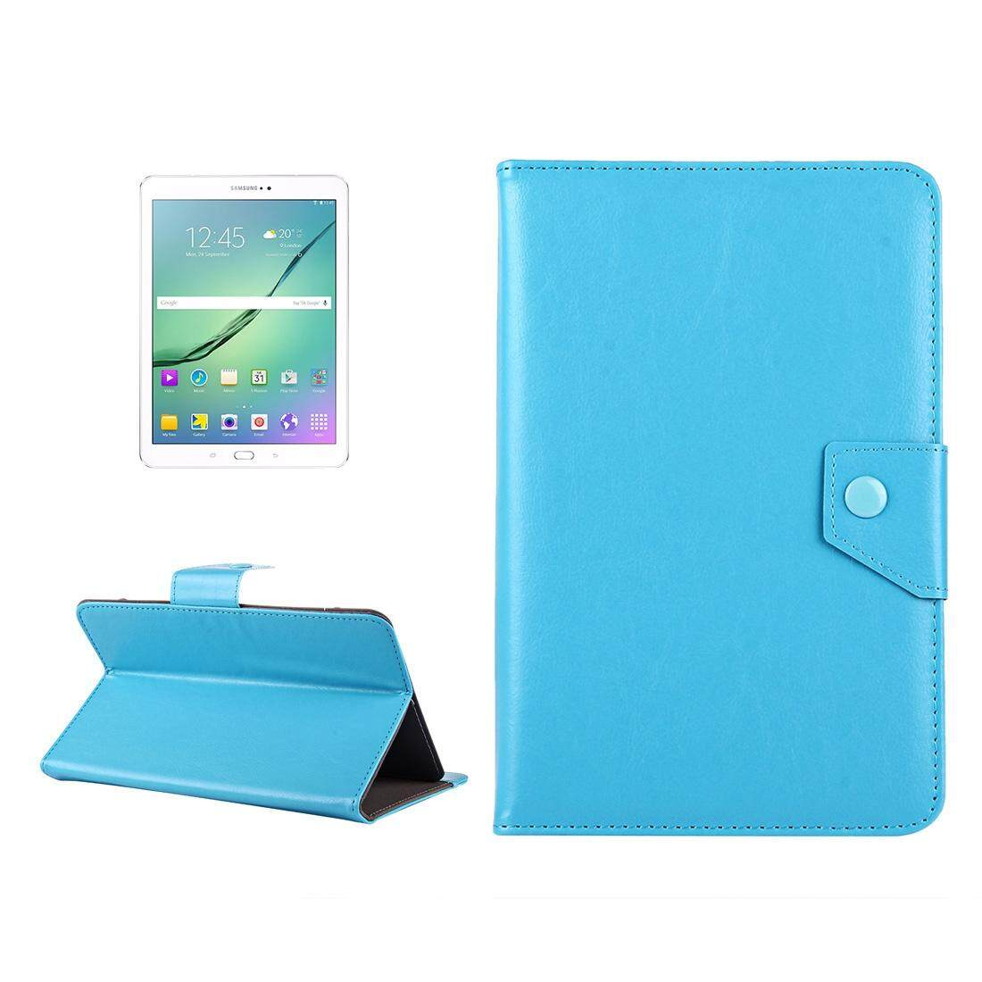 10 inch Tablets Leather Case Crazy Horse Texture Protective Case Shell with Holder for Asus ZenPad 10 Z300C, Huawei MediaPad M2 10.0-A01W, Cube IWORK10(Baby Blue) - intl