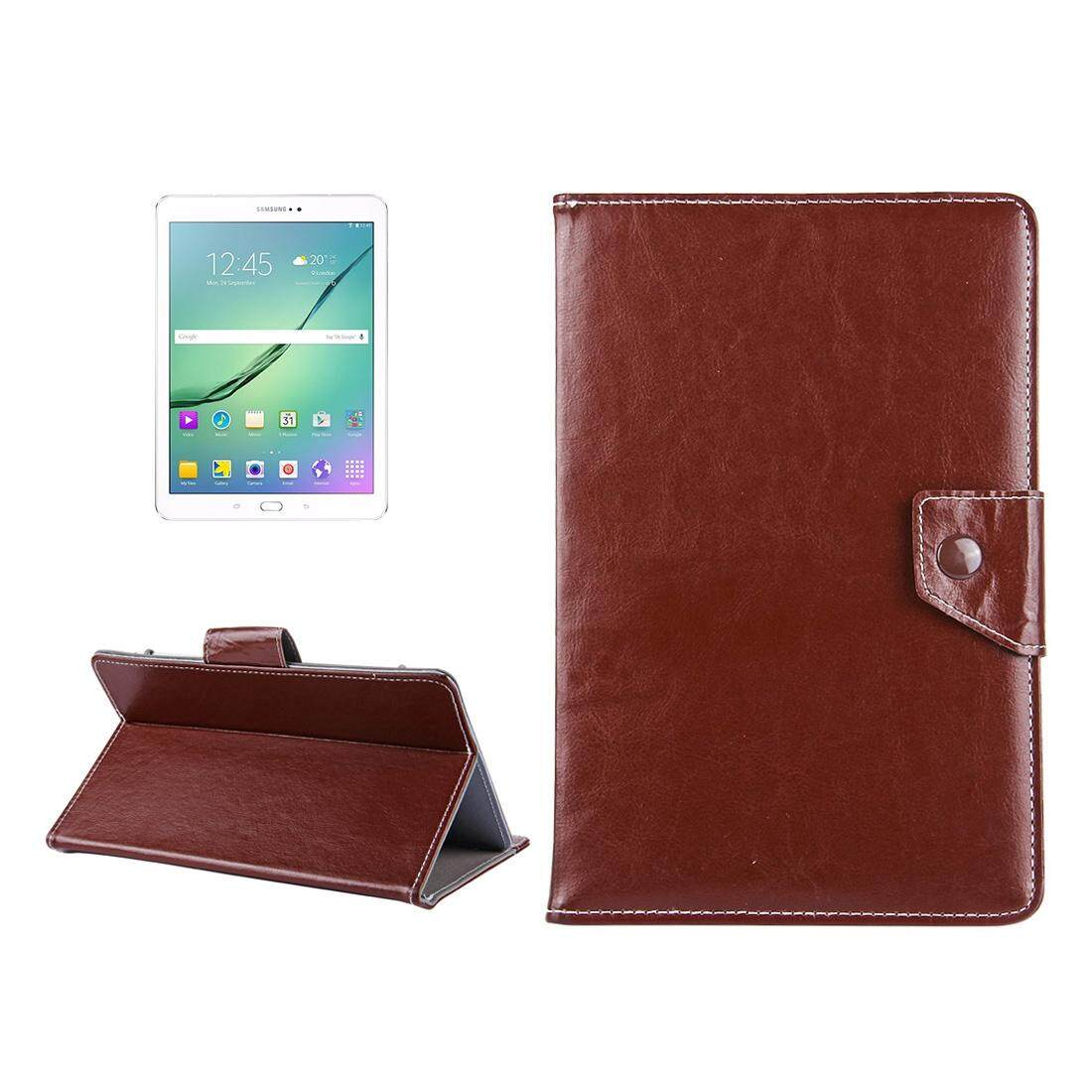 10 inch Tablets Leather Case Crazy Horse Texture Protective Case Shell with Holder for Asus ZenPad 10 Z300C, Huawei MediaPad M2 10.0-A01W, Cube IWORK10(Brown) - intl
