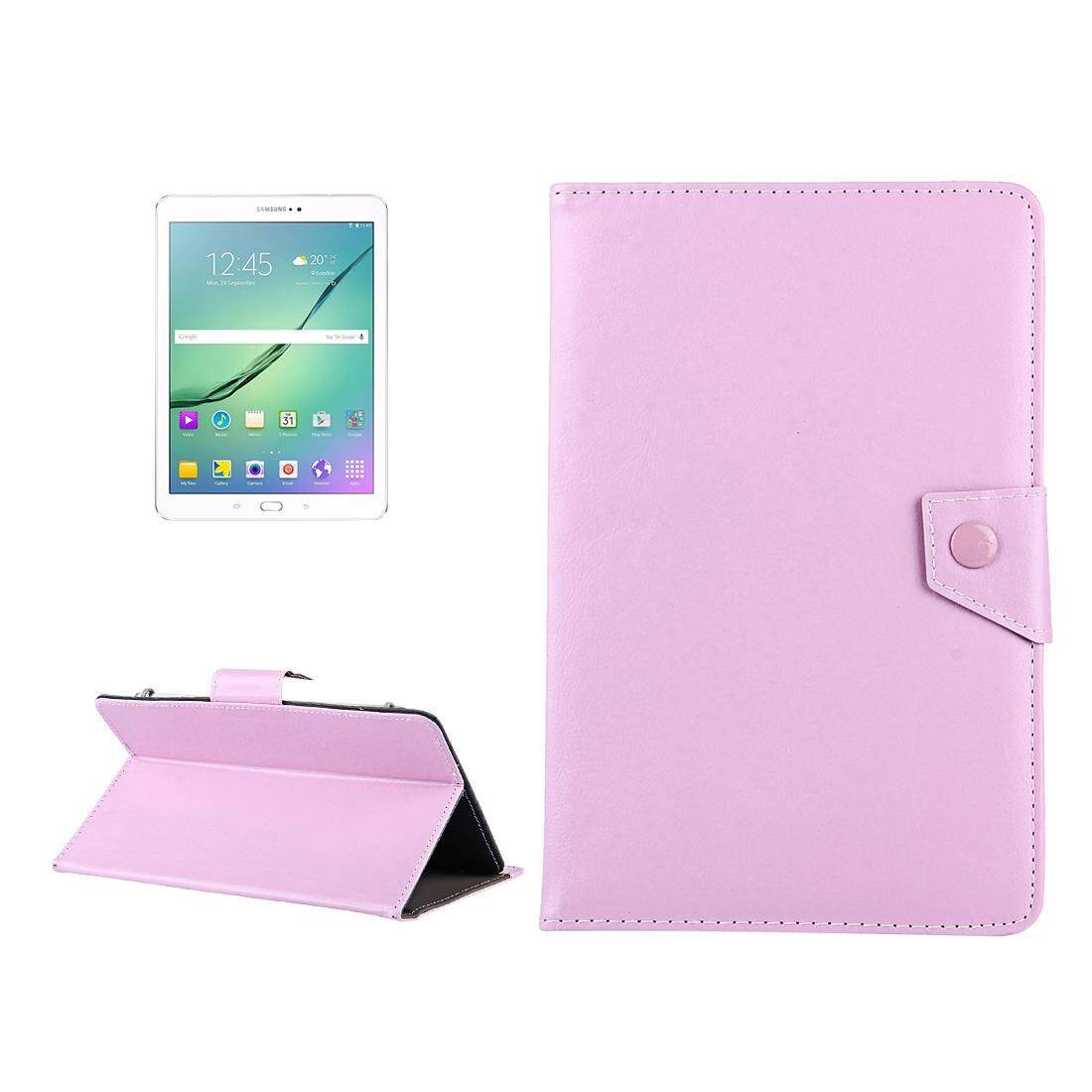 10 inch Tablets Leather Case Crazy Horse Texture Protective Case Shell with Holder for Asus ZenPad 10 Z300C, Huawei MediaPad M2 10.0-A01W, Cube IWORK10(Pink) - intl