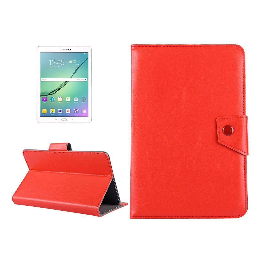 10 inch Tablets Leather Case Crazy Horse Texture Protective Case Shell with Holder for Asus ZenPad 10 Z300C, Huawei MediaPad M2 10.0-A01W, Cube IWORK10(Red) - intl