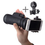 10 Magnification Sports Hiking Telescope 10x40 Monocular Camp Travel Telescope for Cellphone Camera Lens with Universal Stable bracket