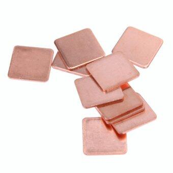 Harga 10 pcs 15mmx15mm 0.4mm Heatsink Copper Shim Thermal Pads