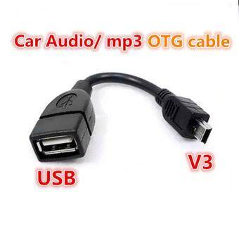 Harga 100% test before send USB A Female to Mini USB B Male Cable Adapter5P OTG V3 Port Data Cable For Car Audio Tablet For MP3 MP4