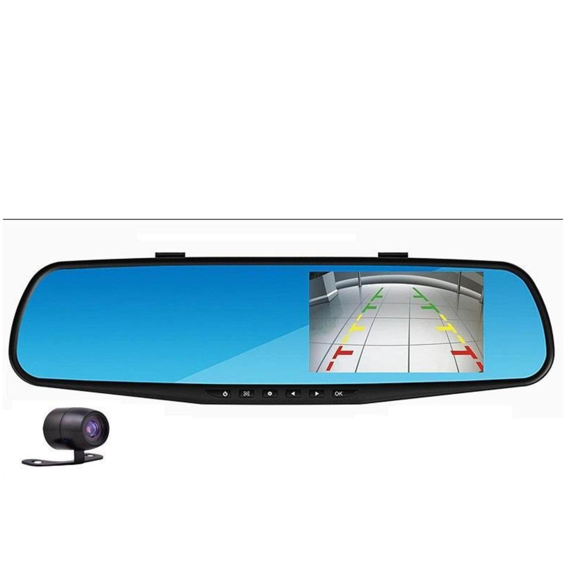 1080P Rear-View Mirror 4.3' Inch Car Recorder Car Camera