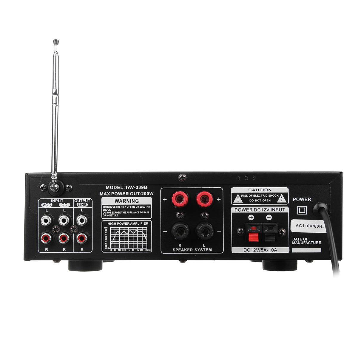 Fitur 220v Bluetooth 500w Karaoke Power Stero Amplifier With Vu Meter For Amplifiers Fm 2 Ch Usb Sd