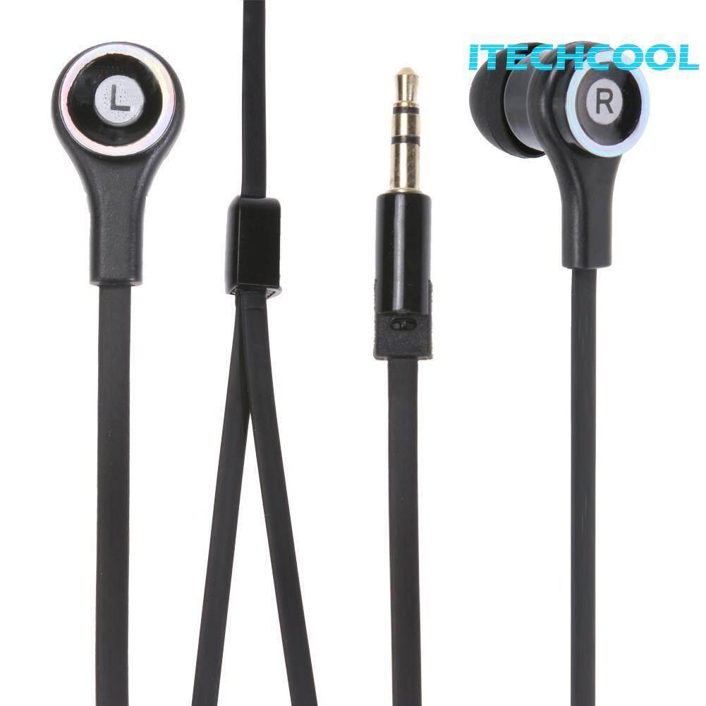1.1m Universal Stereo Headphone Earpiece Flat In-Ear Bass Headset - intl