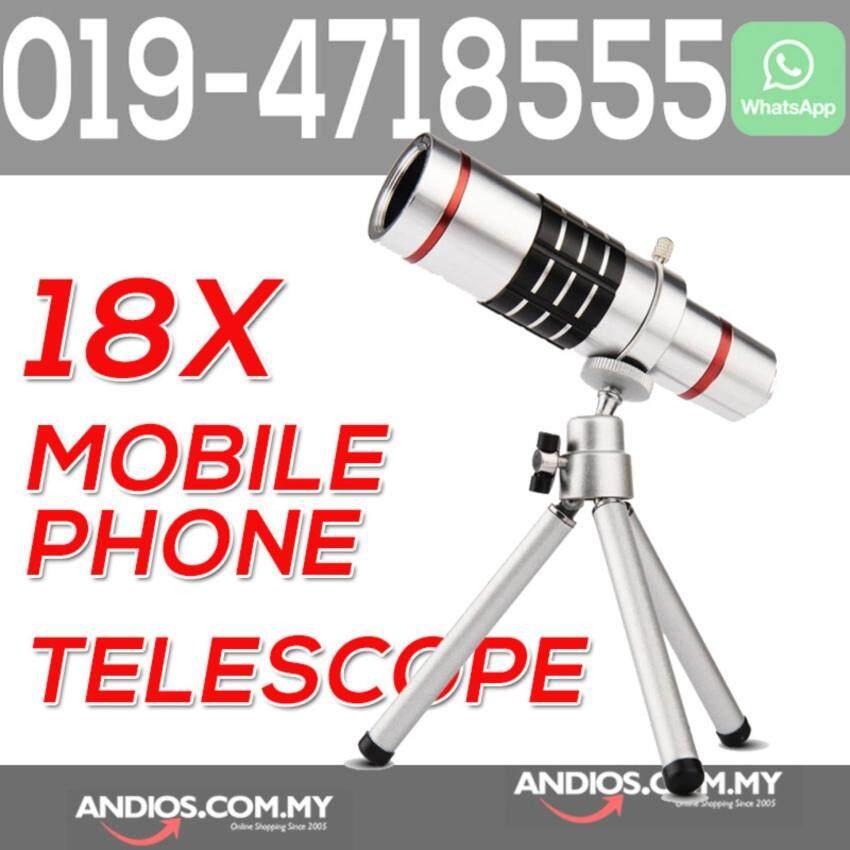 18X Optical Zoom Mobile Phone Telescope Lens Universal Clip Tripod