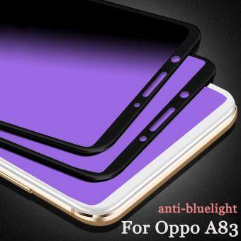 1pc For Oppo A83 Case Carbon Fiber Soft Edge Tempered Glass Anti-Bluelight Blue Ray
