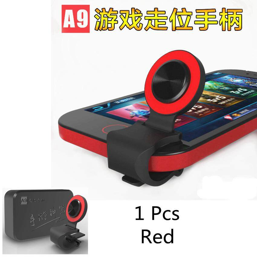 1pcs Mobile Phone Joystick Smartphone Mini Touch Screen Joystick Universal Clip-on Clamp for Phone Tablet Arcade Game joystick(Red) - intl