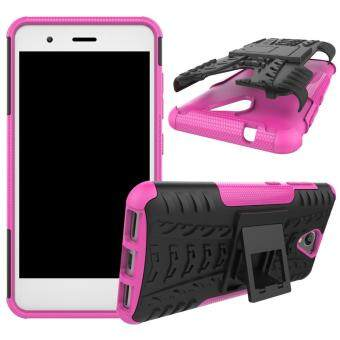 2-in-1 Tyre Pattern Kickstand PC + TPU Hybrid Cellphone Hard Shellfor ZTE Blade A510 - Rose - 2