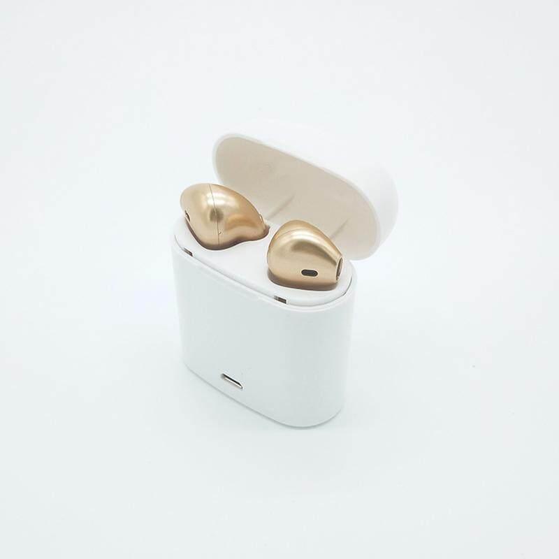 Tws I7 2 Pcs Mini Nirkabel Bluetooth Earphone Di Telinga Penyumbat Telinga Stereo Headset dengan Pengisian