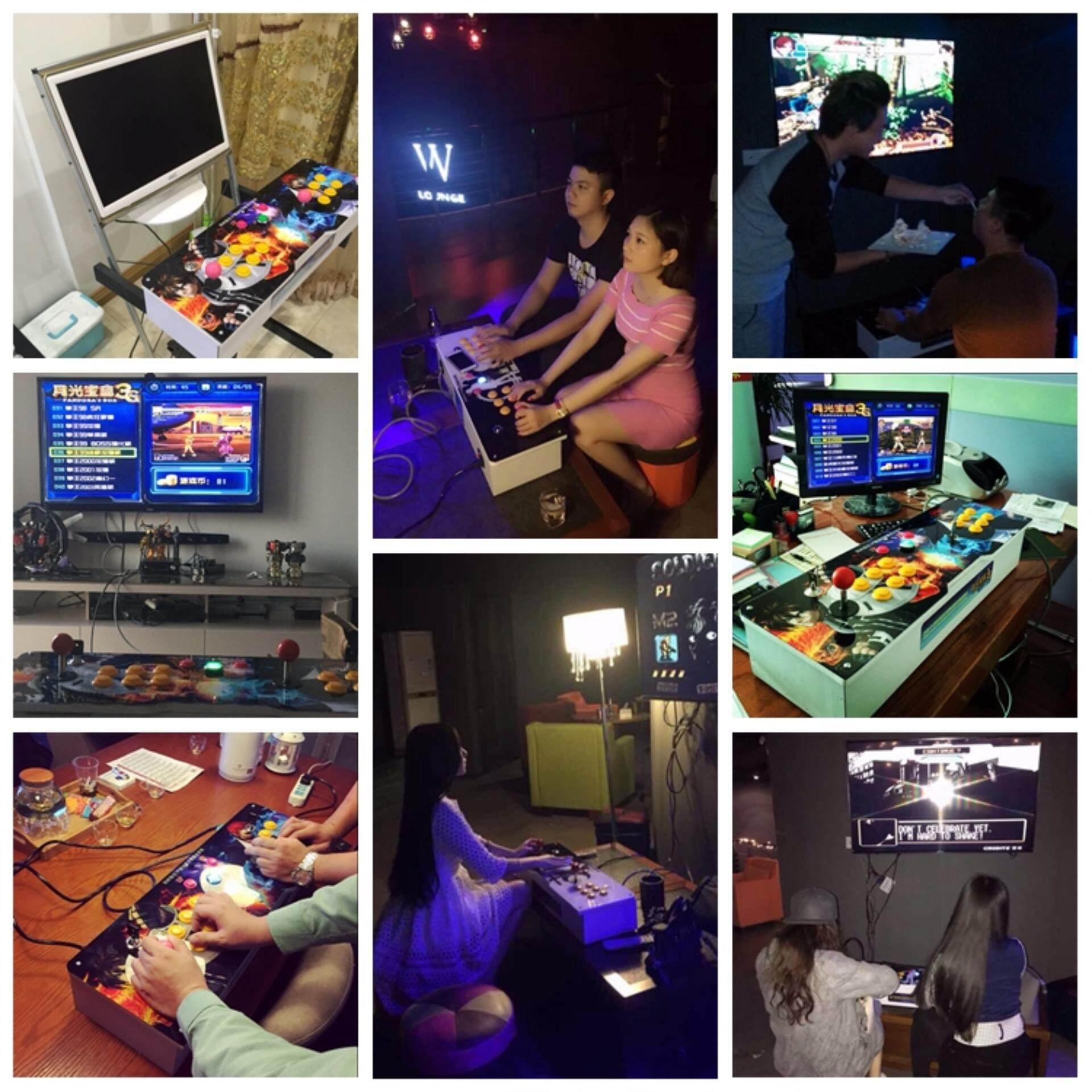 2 Player 645 in 1 Arcade Joystick Game Consoles Pandora Box 4(HDMI Cable)