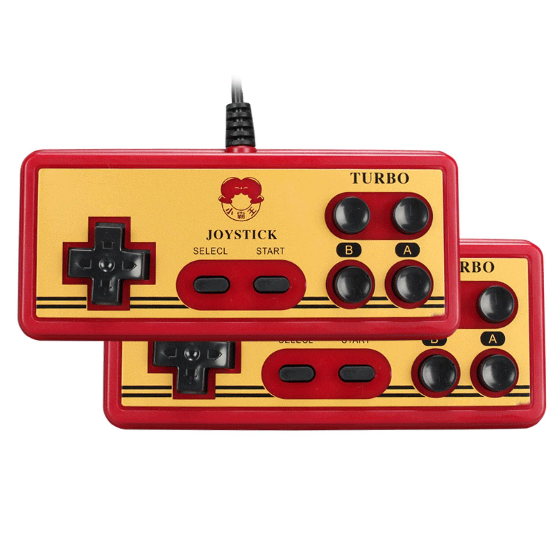 [HOT SELLING] 2 Player TV Video Game System Console Xiao Ba Wang D99 With Free 500 In1 and 4 in 1Games Cards