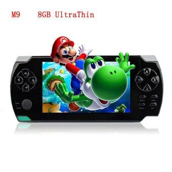 Harga 2016 New 4.3 Inch Ultra-Thin Touch Screen Handheld Game Console 8GBuilt In Memory Portable Video Games Console MP3 MP5 Music PlayerFor Kids Adults (Black)