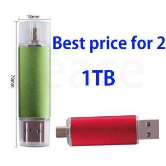 2PCS OTG USB Stick 1TB Mobile Pen USB Flash Drive Drive Micro USBSmartPhone Pendrive OTG Smart