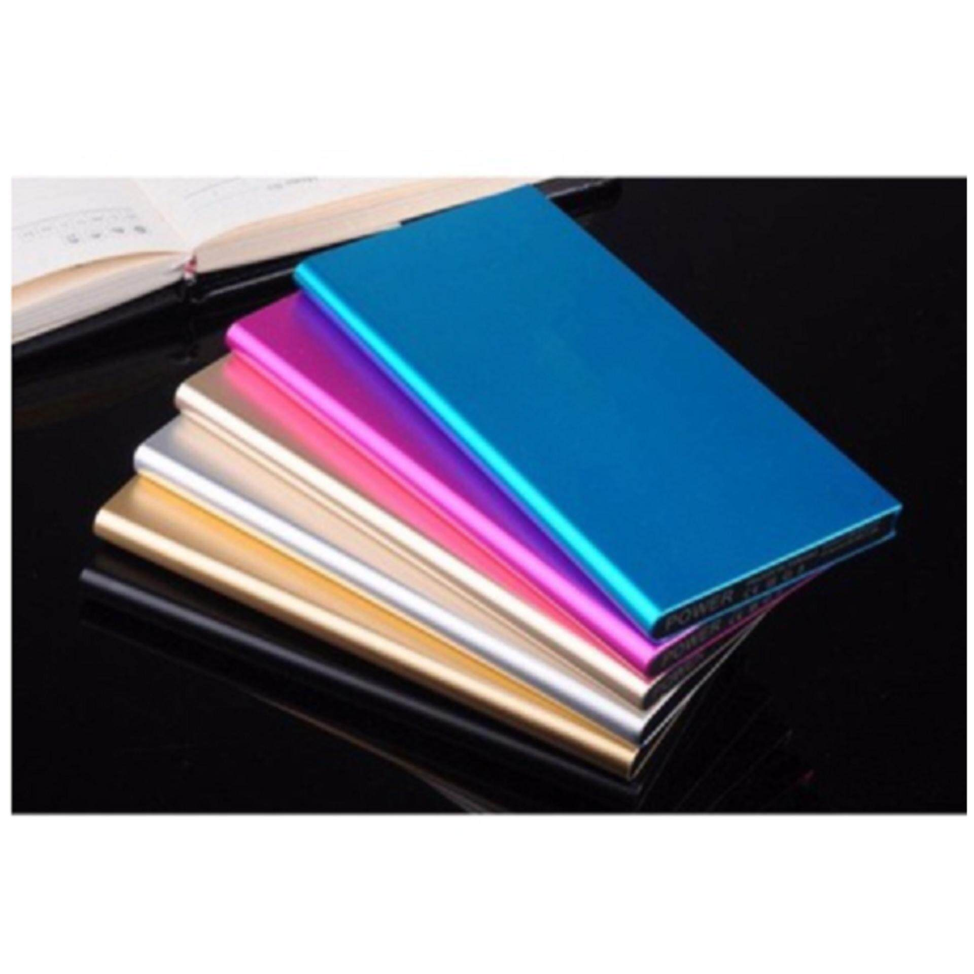 2x 50,000 mAh Super Thin Powerbank with Backlight- Silver - FREE SHIPPING - LOWEST IN TOWN