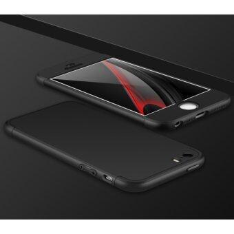 3 in 1 Combo Original GKK Tough Double Dip 360 Full Protection Casefor Apple iphone 5/5s/SE (Black)