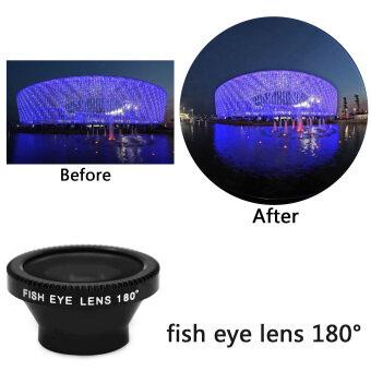 3 in 1 Magnet Detachable 0.67x Wide Angle + 180 Degree Fish Eye +Macro