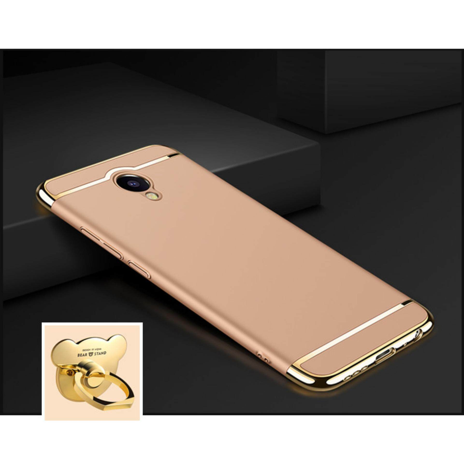 For Xiaomi Redmi Note 2 Back Cover 3 in 1 Ultra thin PC with Bear ring
