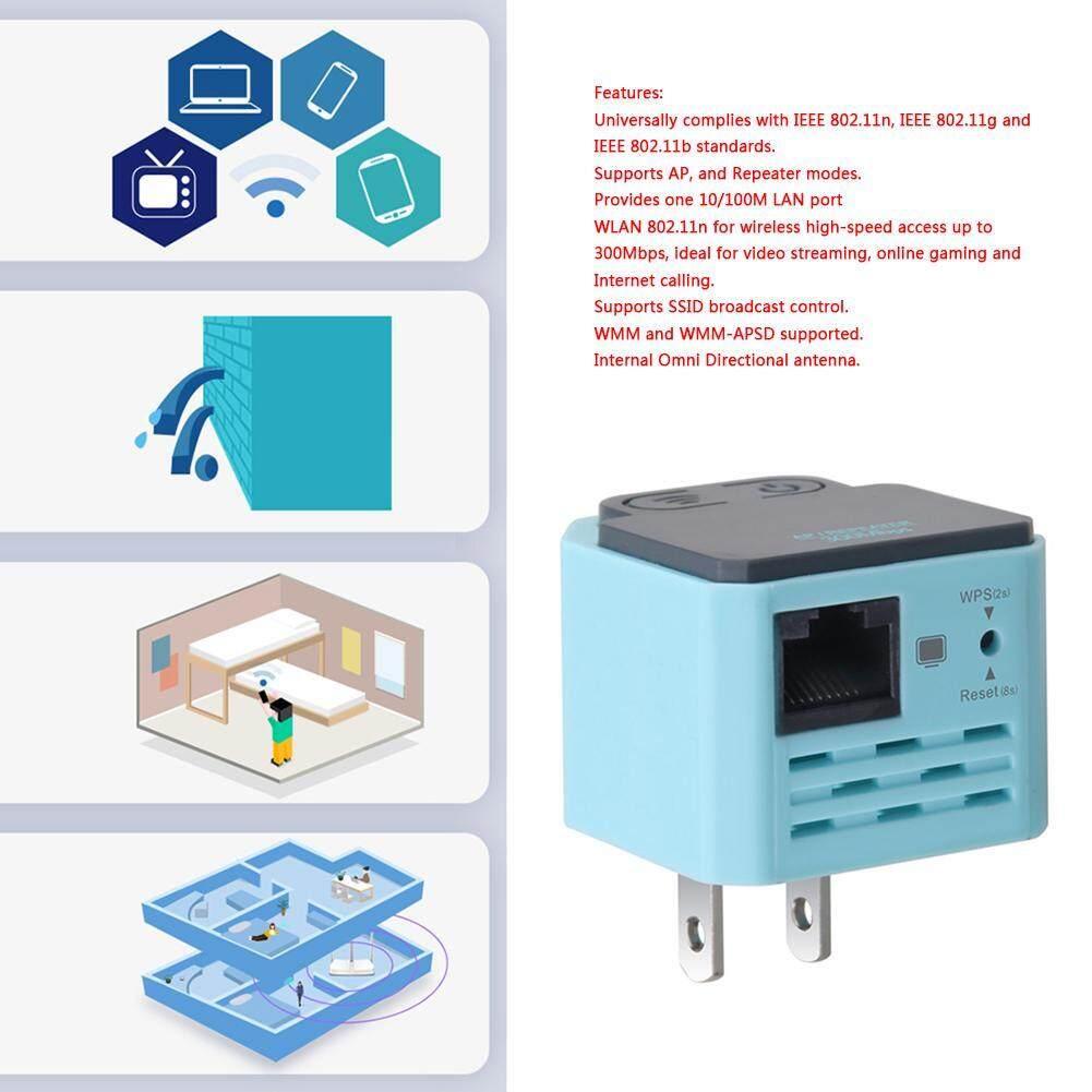 Kelebihan 300 M Wifi Nirkabel Repeater 802 11n Rangkaian Amplifier 80211n Sinyal Extender Booster Biru Muda
