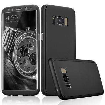 Harga 360 Degree All-around Full Body Slim Fit Lightweight HardProtective Skin Case Cover for Samsung Galaxy S8 Plus (Black)