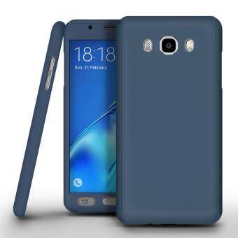 360 Degree Full Body Protection Cover Case With Tempered Glass for Samsung Galaxy J2 Prime (Blue)
