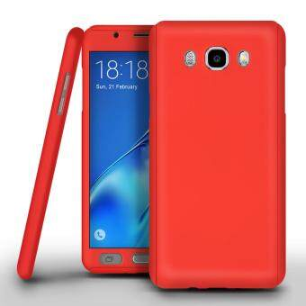 Harga 360 Degree Full Body Protection Cover Case With Tempered Glass for Samsung Galaxy J2 Prime (Red)