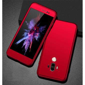 Harga 360 Degree Full Body Protection Cover Case With Tempered Glass forHuawei Mate 9 (Red)
