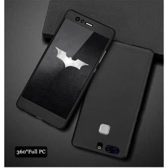 360 Degree Full Body Protection Cover Case With Tempered Glass forHuawei P9 (Black)