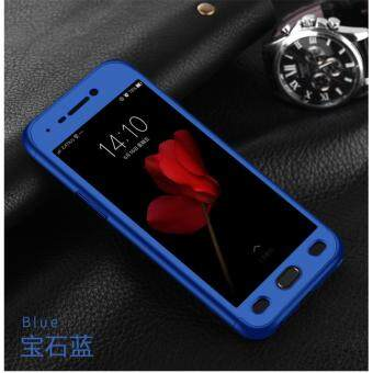 360 Degree Full Body Protection Cover Case With Tempered Glass forOppo F1S A59 (Blue)