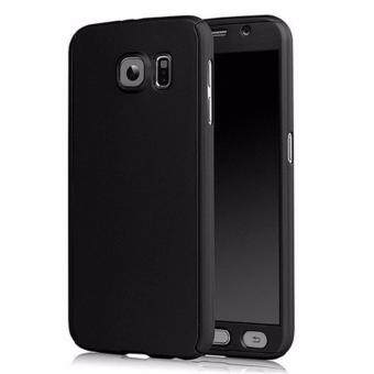 360 Degree Full Body Protection Cover Case With Tempered Glass forSamsung Galaxy A7 2016 (Black)