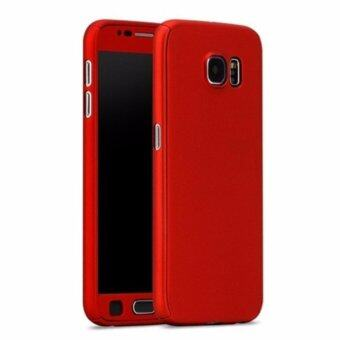 Harga 360 Degree Full Body Protection Cover Case With Tempered Glass forSamsung Galaxy A7 2017 (Red)