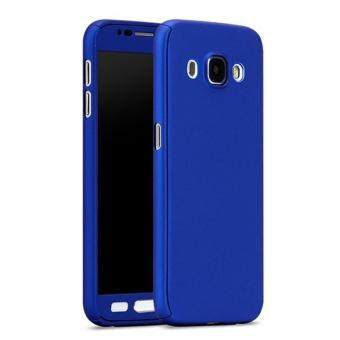Harga 360 Degree Full Body Protection Cover Case With Tempered Glass forSamsung Galaxy J5 2016 (Blue)