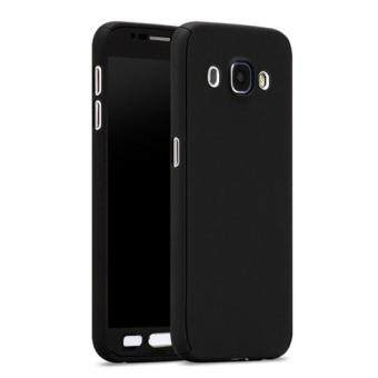 Harga 360 Degree Full Body Protection Cover Case With Tempered Glass forSamsung Galaxy J5 (Black)