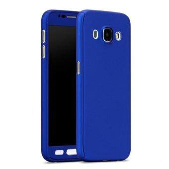Harga 360 Degree Full Body Protection Cover Case With Tempered Glass forSamsung Galaxy J5 (Blue)